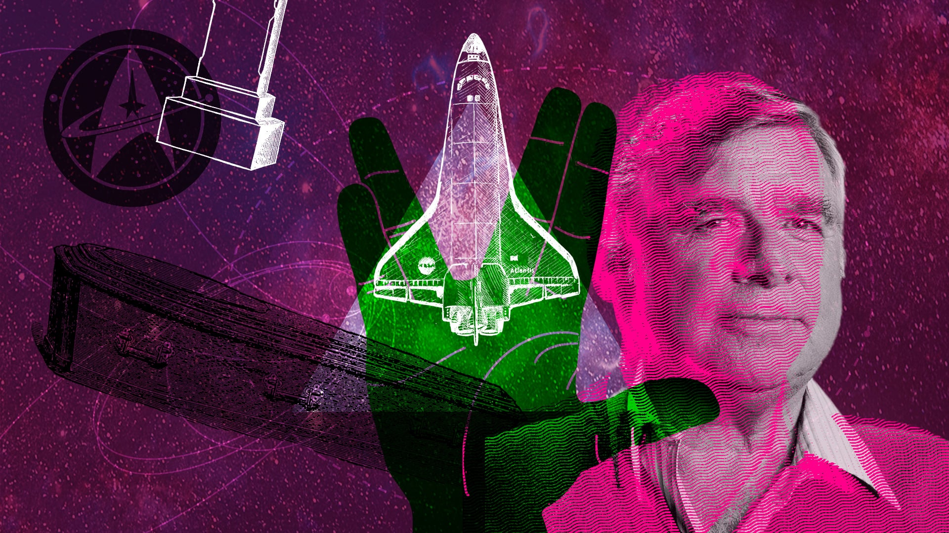 Ein Teil der Asche von Gene Roddenberry reiste an Bord der Columbia um die Erde und kehrte dann wieder zurück.